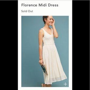 NWOT Anthropologie Florence Midi Dress Sz Medium